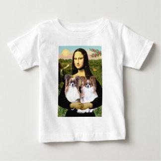 Mona Lisa - two Papillons Baby T-Shirt