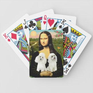 Mona Lisa - Two White Toy Poodles Poker Deck