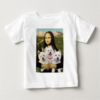 Mona Lisa - Westies (three) Baby T-Shirt