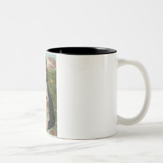 Mona Lisa - Wheaten Terrier 1 Two-Tone Coffee Mug