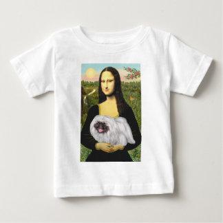 Mona Lisa - White Pekingese, black mask Baby T-Shirt