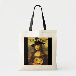 Mona Lisa Witch & JOL Halloween Trick or Treat Bag