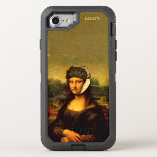Mona Lisa With Bandaged Ear Van Gogh Hat And Pipe OtterBox Defender iPhone 8/7 Case