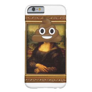 Mona Lisa with Happy Poop Barely There iPhone 6 Case