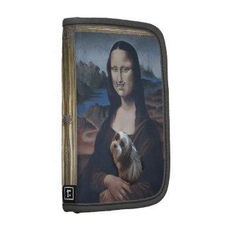 Mona Lisa with her beloved Mi-ki dog Folio Planners