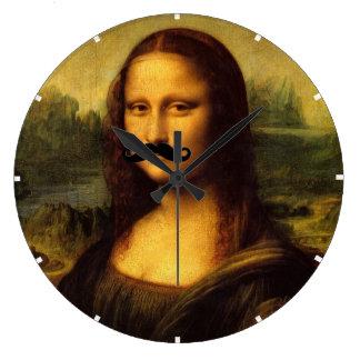 Mona Lisa With Moustache Wallclock