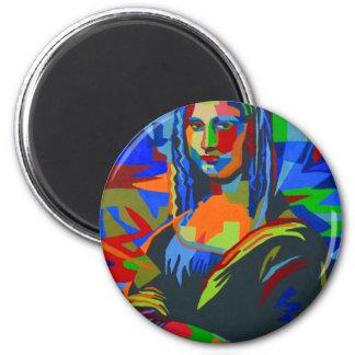 Mona Lisa Wpap 2 Inch Round Magnet