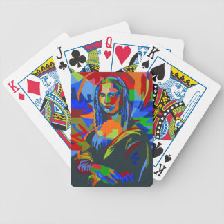 Mona Lisa Wpap Bicycle Playing Cards