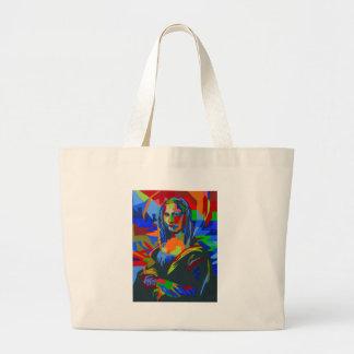 Mona Lisa Wpap Large Tote Bag