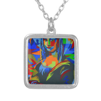 Mona Lisa Wpap Silver Plated Necklace