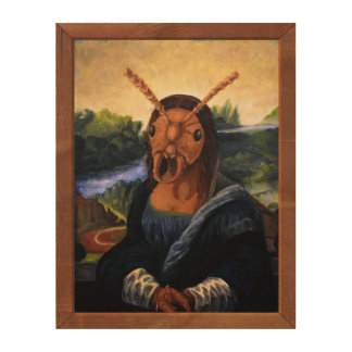 Mona Lisant Wood Print