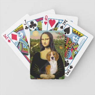 Mona Lisa's Beagle Bicycle Playing Cards