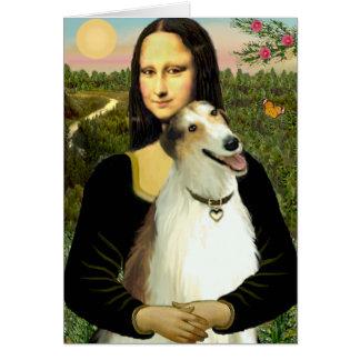 Mona Lisa's Borzoi Card