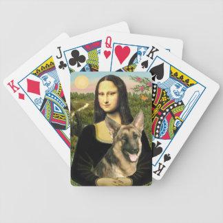 Mona Lisa's German Shepherd (#2) Poker Deck