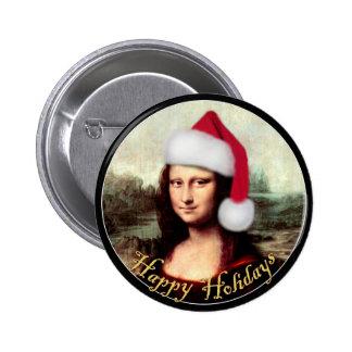 Mona Lisa's Santa Hat Pins