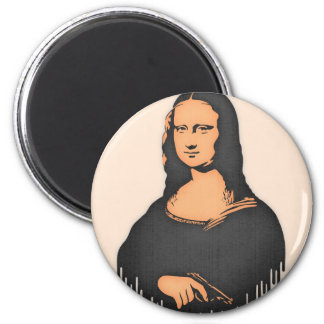 Mona Pistol 2 Inch Round Magnet
