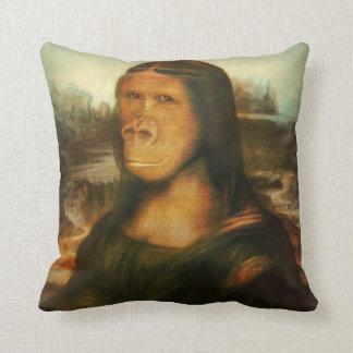 Mona Rilla aka  Mona Lisa Throw Pillow