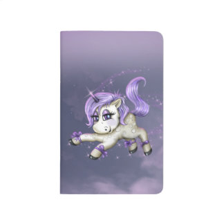 MONA UNICORN CUTE CARTOON Pocket Journal LINED