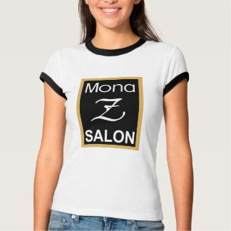 Mona Z Ladies Ringer Tee (Smaller Logo)