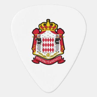 Monacan coat of arms guitar pick