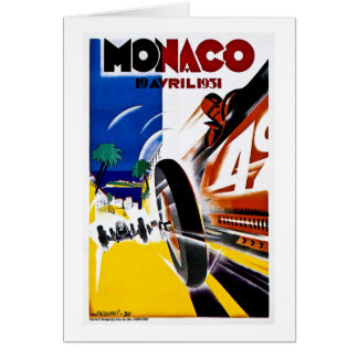 Monaco 1931 Grand Prix - Vintage Race Poster Card