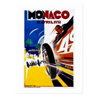 Monaco 1931 Grand Prix Vintage Race Poster Postcard