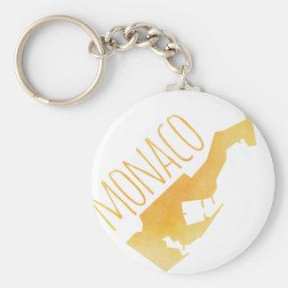 Monaco Basic Round Button Keychain