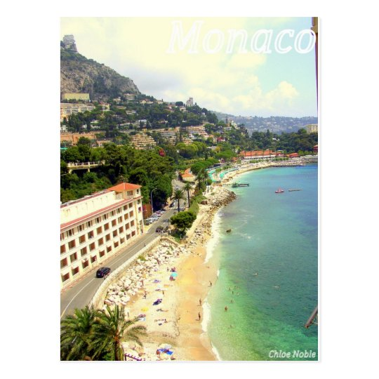 Monaco Beach Postcard