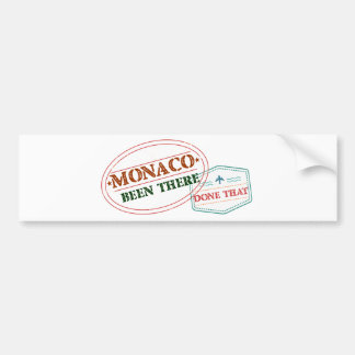 Monaco Been There Done That Bumper Sticker
