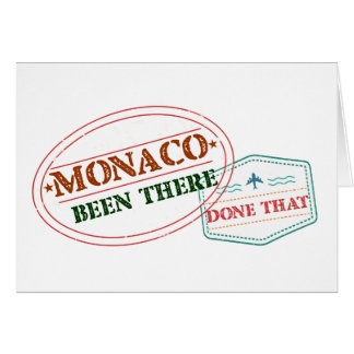 Monaco Been There Done That Card