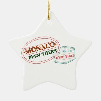 Monaco Been There Done That Ceramic Ornament
