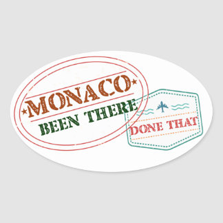 Monaco Been There Done That Oval Sticker