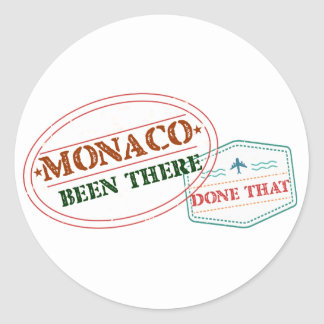 Monaco Been There Done That Round Sticker