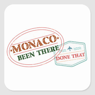 Monaco Been There Done That Square Sticker