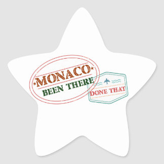 Monaco Been There Done That Star Sticker