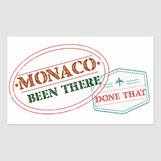 Monaco Been There Done That Sticker