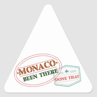 Monaco Been There Done That Triangle Sticker