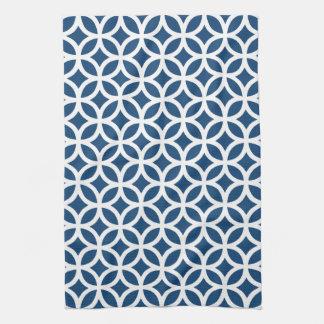 Monaco Blue Geometric Kitchen Towels