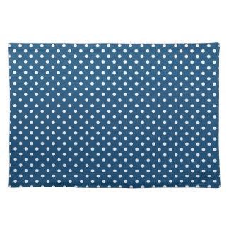 Monaco Blue Polka Dot Pattern Placemat