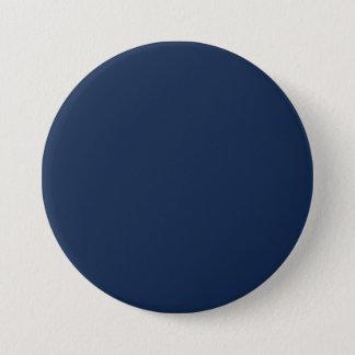 Monaco Blue Trend Color Dark Blue Customized Blank 3 Inch Round Button