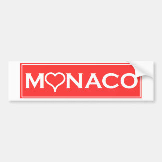 Monaco Bumper Sticker