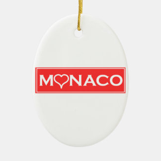 Monaco Ceramic Oval Ornament
