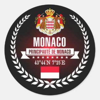 Monaco Classic Round Sticker