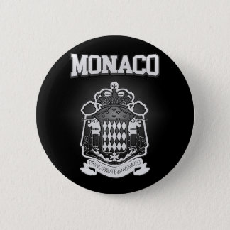 Monaco Coat of Arms 2 Inch Round Button