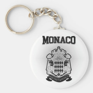 Monaco Coat of Arms Basic Round Button Keychain