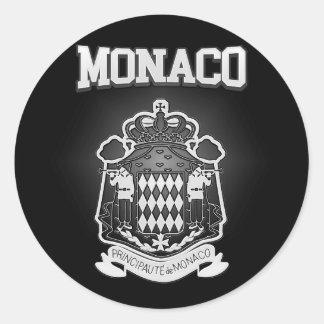 Monaco Coat of Arms Classic Round Sticker