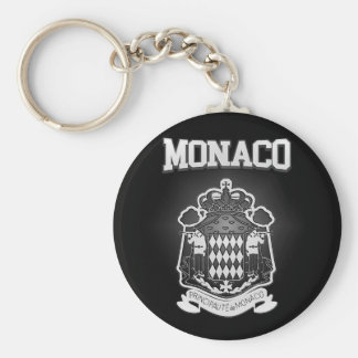 Monaco Coat of Arms Keychain