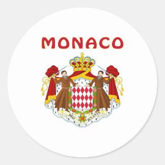 MONACO Coat Of Arms Round Sticker