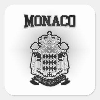 Monaco Coat of Arms Square Sticker