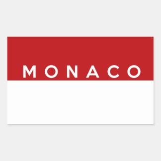 monaco country flag text name sticker